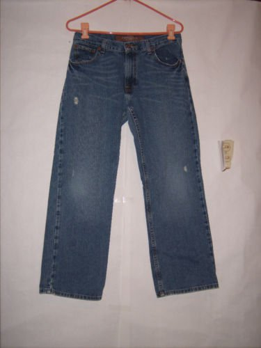 Arizona Straight Leg Denim Distressed jeans size 16 Husky 31/W
