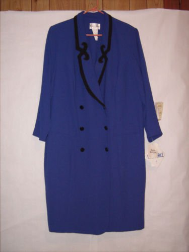 Danny & Nicole New York Blue/Black 1pc. Dress Suit Size 26W NWT