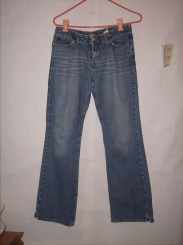 Lucky Brand Too Tough to Die Distressed Denim Jeans size 4/27 Boot cut with Slit