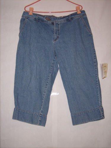 Faded Glory Authentic Brand Blue denim Jean Capris Size 18W