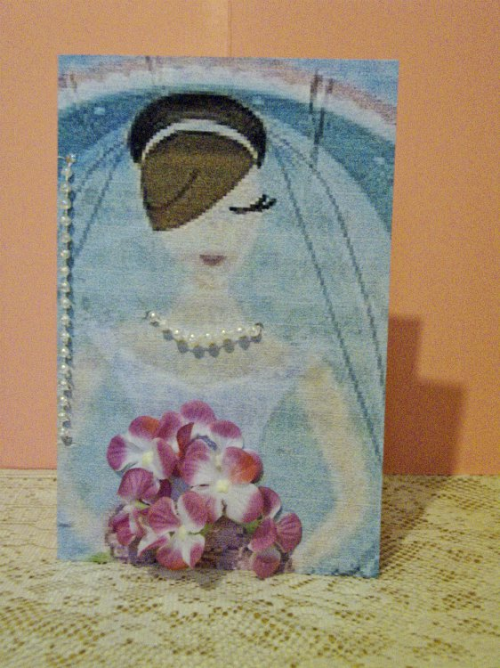Ivory Blissful Bride's Congratulations Card