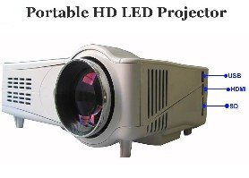 Portable hd led projector HDMI 1080p with USB/SD reader