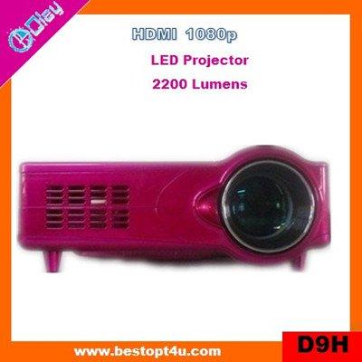 Cheap portable led video projector 1080p (D9H)