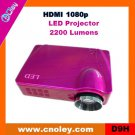 Cheap digital projector support HDMI 1080p (D9H)