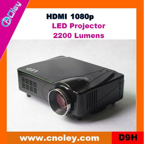 Hot mini led projector support HDMI 1080p (D9H)