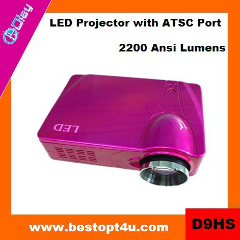 Portable hd led video projector 1080p (D9HS)