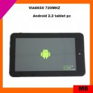cheap 7 inch tablet pc touch screen android 2.2 with WIFI, 3G(M6)