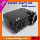 Cheap led video projector with DVB-T/USB/Record function (D9HR)