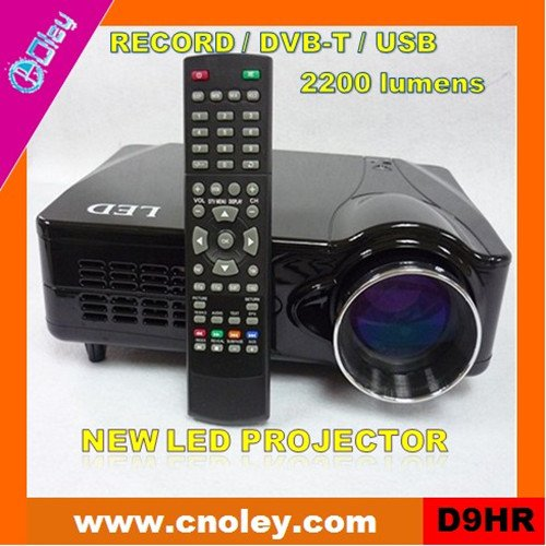 Portable mini led video projector with DVB-T/USB/Record function (D9HR)