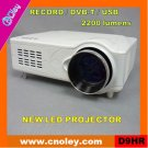 Portable mini led tv projector with DVB-T/USB/Record function (D9HR)
