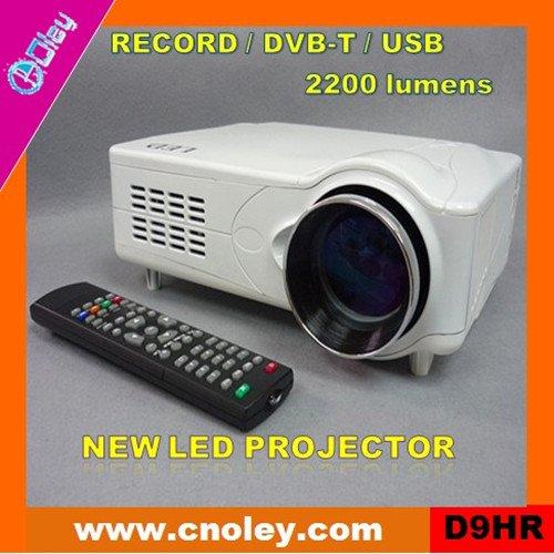 Cheap digital led projector with DVB-T/USB/SD (D9HR)