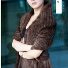 Gorgeous Genuine REAL Hand Knited Mink Fur Shawl/Scarf, Brown