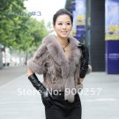 Luxurious!!Genuine REAL Patched Mink Fur Shrug/Cape, Grey,XL