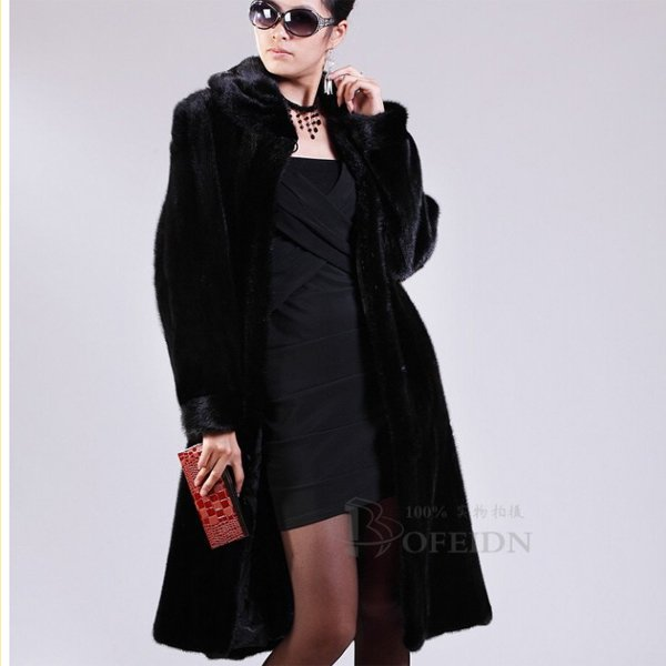 LUXURIOUS TOP QUALITY GENUINE REAL MINK FUR COAT