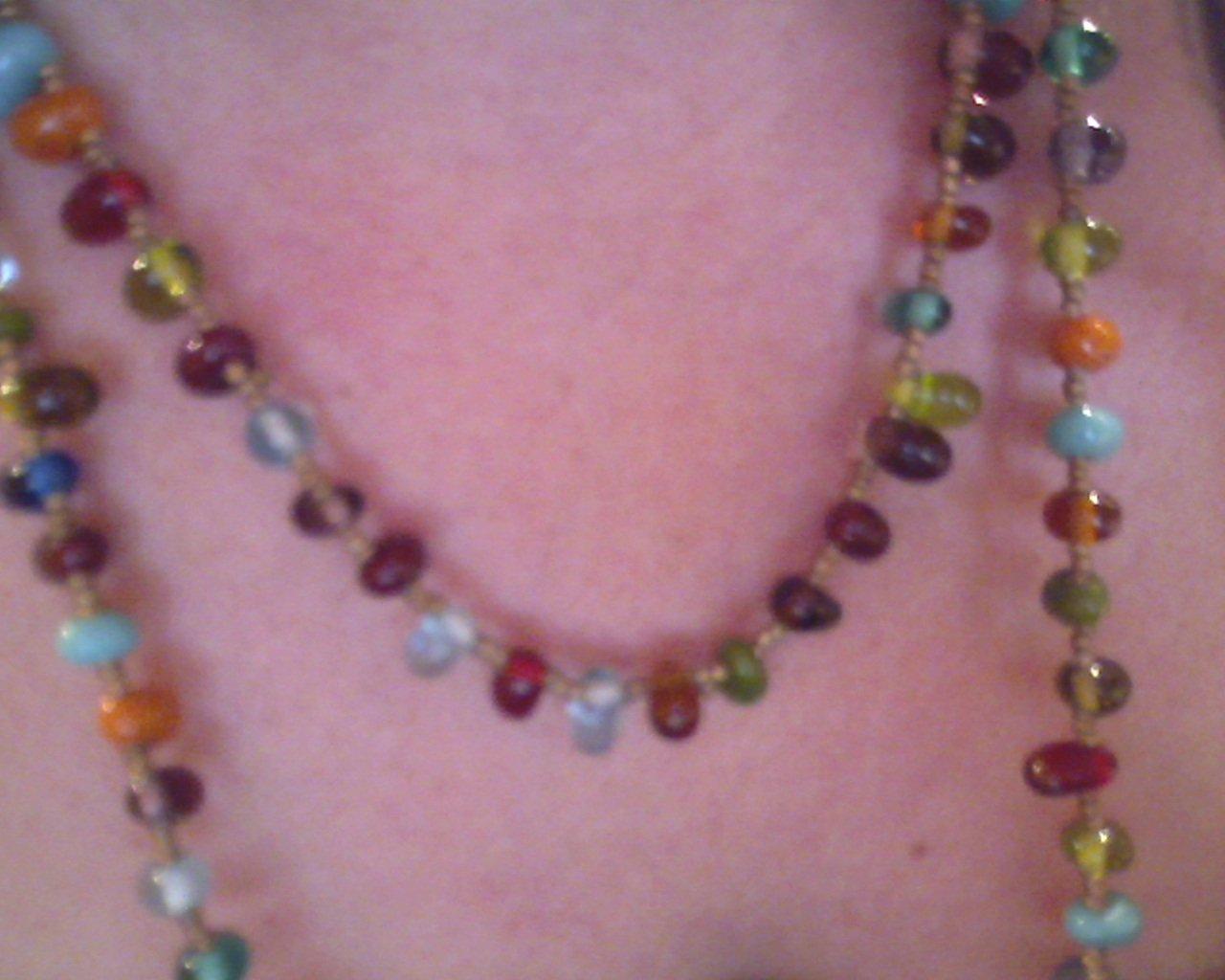 Artisan Beaded gemstone necklace