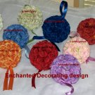 Pomander Ball two toned Kissing Ball 5 inch Wedding Flower Decoration