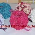 "6"" Silk Flower Kissing Ball Hydrangea Pomander Ball Wedding"