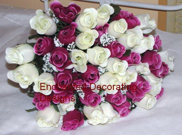 48 Flowers Silk Rose Bud Bouquet