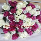 48 Flowers Silk Rose Bud Bouquet
