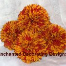 Kissing Ball Lot of 5 5 inch Spider Mums Wedding Flower Decoration Pomander Ball