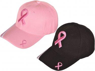 Pink Ribbon Breast Cancer Awareness Baseball Caps