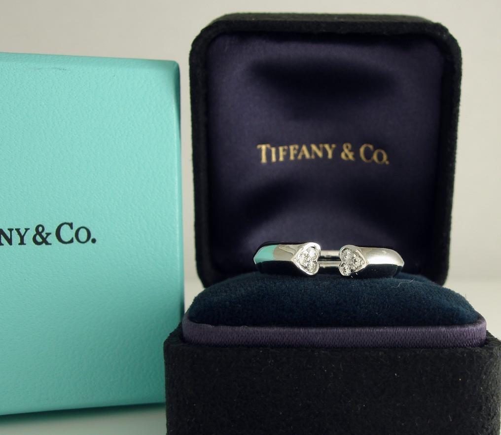 Tiffany & Co. 18K White Gold Paloma Picasso Diamond Tenderness Heart Ring