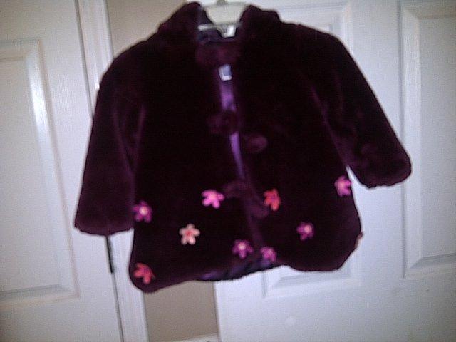 Toddler's Winter Coat Grape color 24 mos.