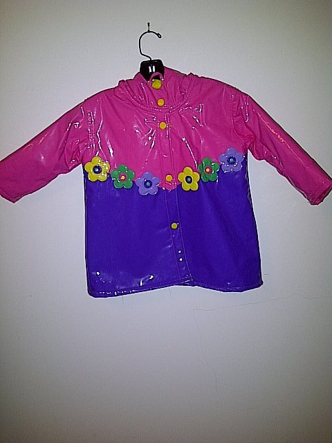 Raincoat With Hood, Hot Pink
