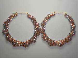 Swarovski Pink Rain Bamboo Earrings
