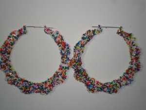 3 1/2 inch Candy Sprinkle Bamboo HoopsFrom TheiLLLines