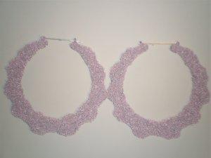 Ice Cream Bamboo Earrings Kunzite (light pink, light purple color)