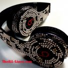 Beats Solo On Ear Headphones  Leopard Print Customized with Swarovski Elements