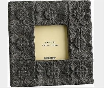 NIB PIER 1 IMPORTS CAST STONE PHOTO FRAME DISCONTINUED