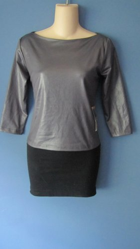 JUNIORS SEXY GRAY OPEN BACK CLUB SHIRT SIZE LARGE