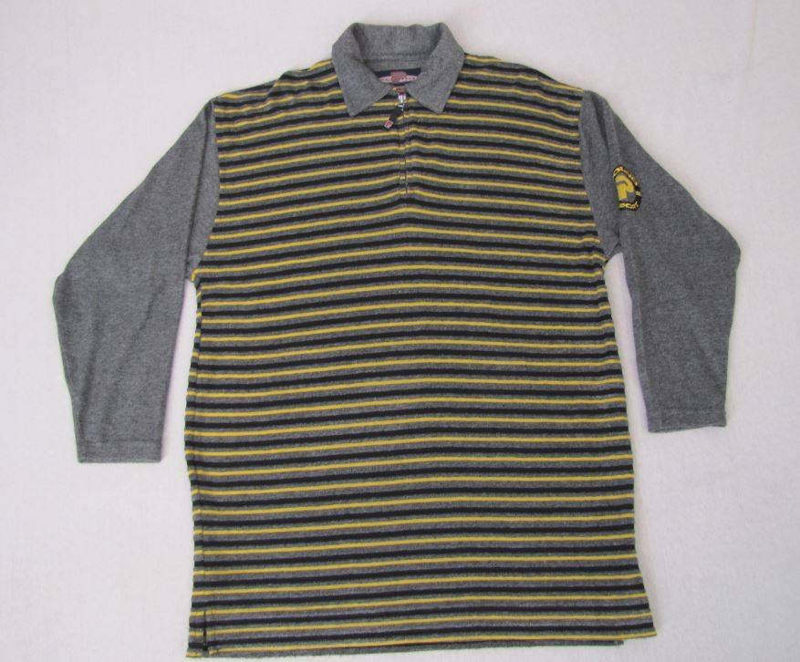 NWT MEN'S MULTI STRIPE LONG SLEEVE CASUAL SHIRT SIZE LARGE