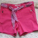 NWT JUNIORS FUCHSIA COLOR SHORTS W/REMOVABLE SASH SIZE 9