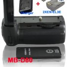 MB-D80 Battery Grip for Nikon D80/D90 + 2x EN-EL3E+ Remote Control +Battery Charge​r