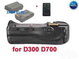 Battery Grip for D300 D700 MB-D10+2 EN-EL3e +remote control