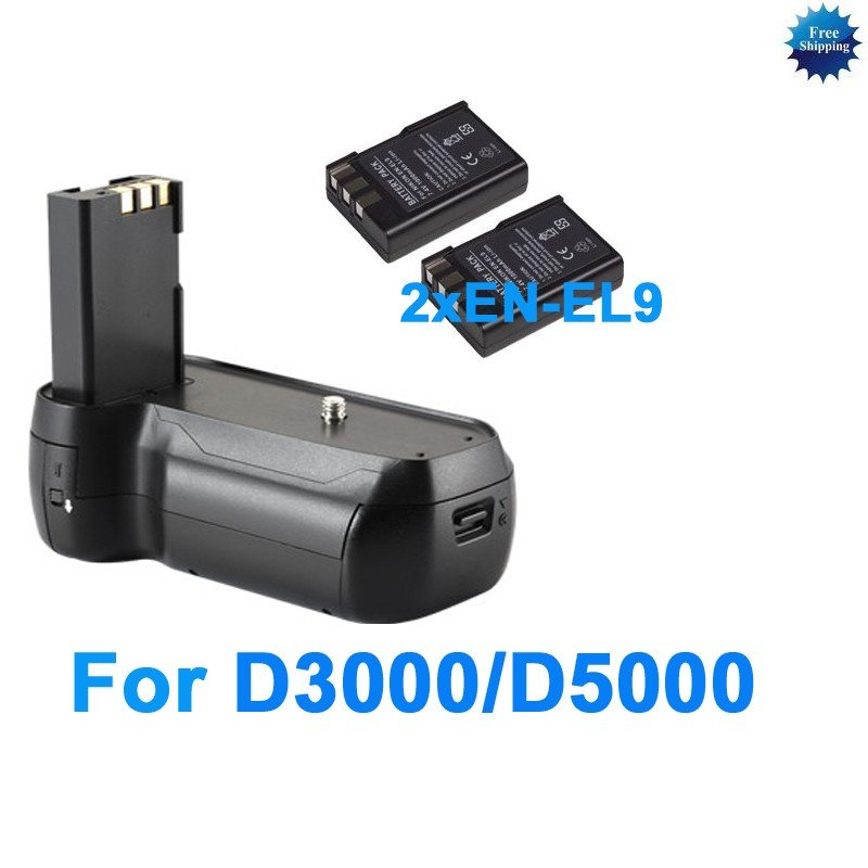 battery grip for Nikon D3000 D5000+2 EN-EL9