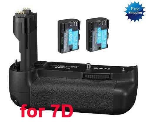 Replacement Canon BG-E7 Battery Grip + 2x LP-E6