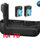 Replacement Canon BG-E7 Battery Grip + 2x LP-E6