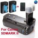 Canon 5DMARK II BG-E6 Battery Grip + 2 X LP-E6+Remote Control +Battery Charger