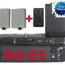canon BG-E5 Battery Grip+LP-E5+Remote Control +Battery Charge​r