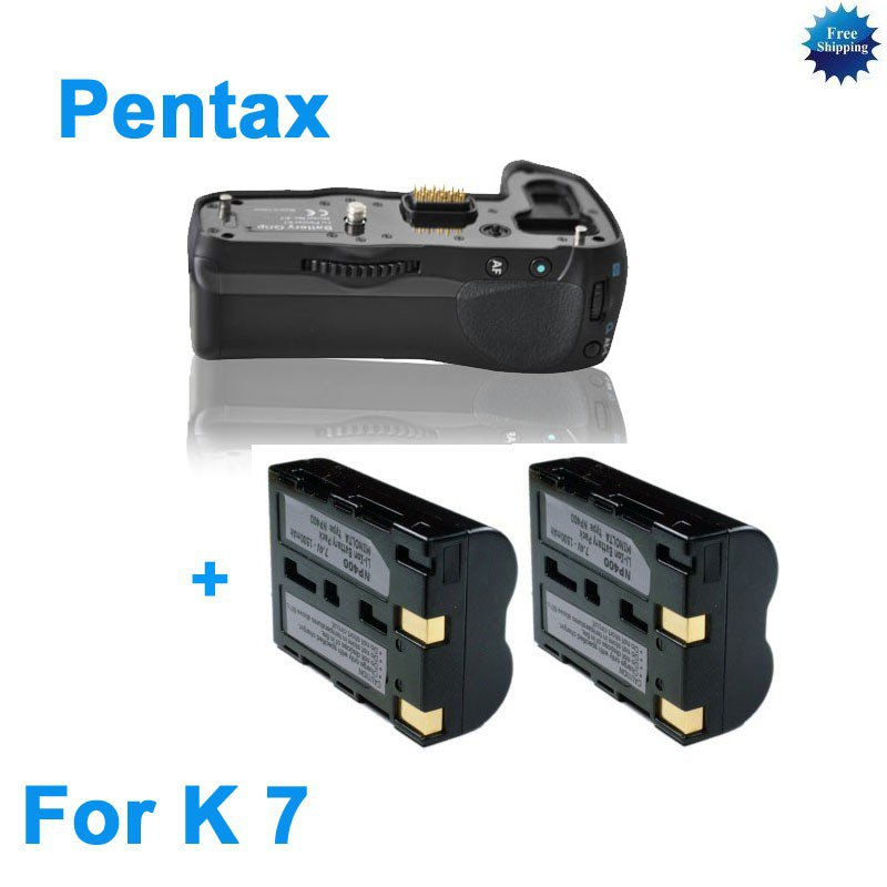 Battery Grip for Pentax K7 as D-BG4 +2 D-LI90