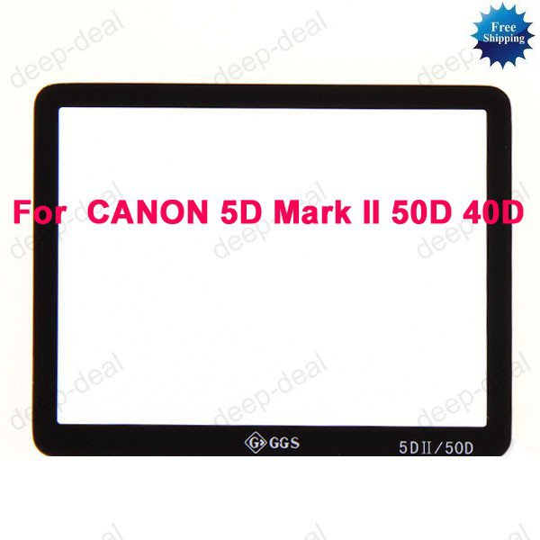 GGS Glass LCD Screen Protector CANON 5D Mark II 50D 40D