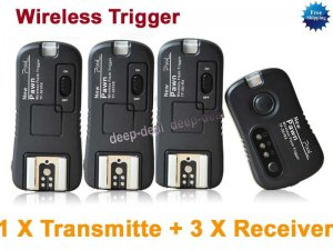 TF361 Flash Trigger for Canon 1 Transmitte 3 Receiver