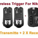 TF362 Flash Trigger Nikon 1Transmitter 2 Receiver