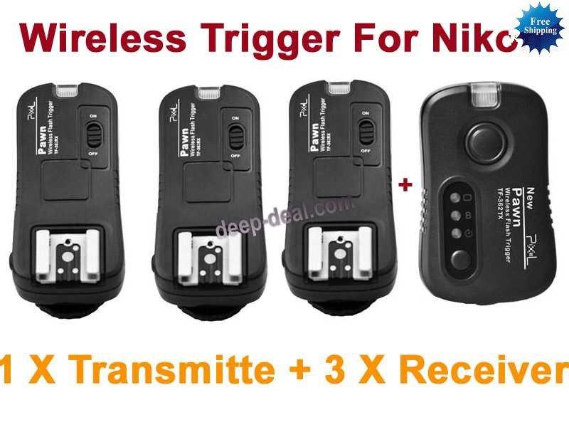 TF362 Flash Trigger Nikon 1 Transmitter 3 Receiver