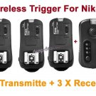 TF362 Flash Trigger Nikon 1 Transmitter 3 Receiver