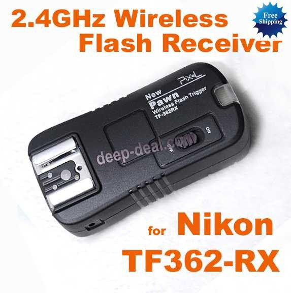 2.4GHz Wireless Remote Flash Receiver for Nikon TF-362